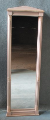 A PAINTED WALL CHEVAL MIRROR