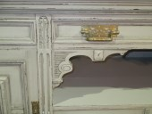 A VICTORIAN PAINTED AND CARVED SIDEBOARD