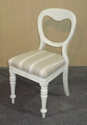 SET OF 4 VICTORIAN PAINTED BALLOON BACK CHAIRS