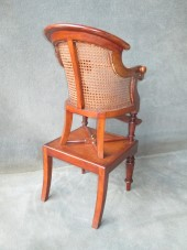 A Victorian Mahogany Bergere Childs High Chair